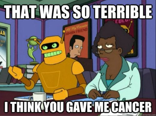 Calculon To Bender Futurama 515 Bender Should Not Be Allowed On