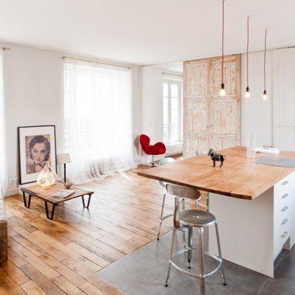 Stylisme épuré dans un loft parisien Ceiling, Doors and Lofts