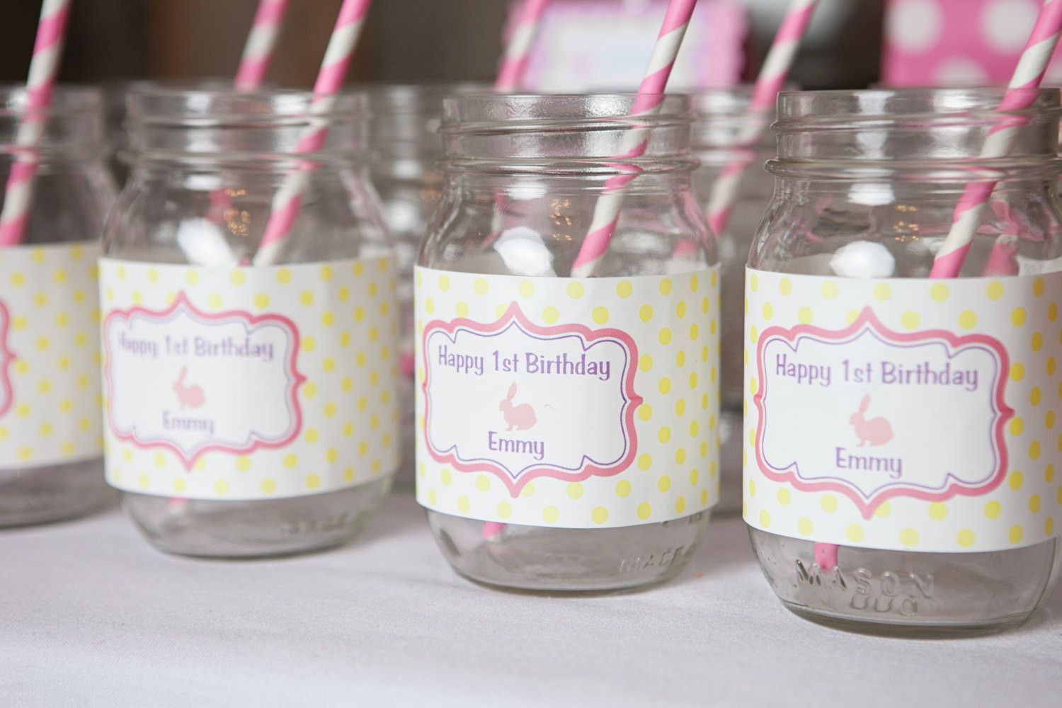 Bunny Party Water Bottle Labels - Bunny Birthday Party Decorations ...
