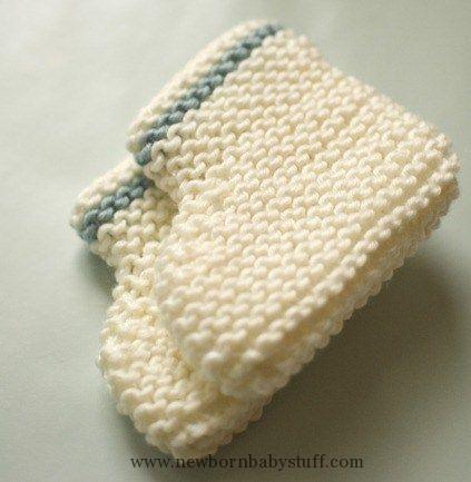 Baby Knitting Patterns Baby Booties Beginner Knitting Pattern