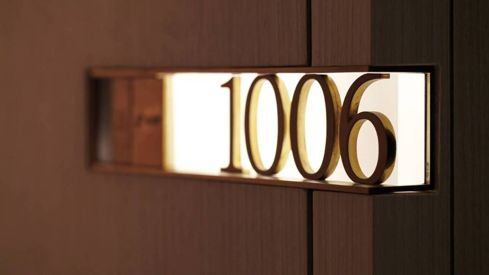 Door design hotel google search signages pinterest for Apartment number design