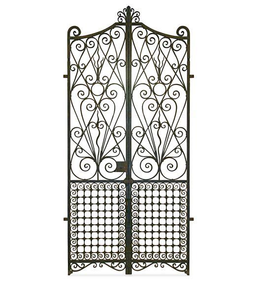 Grand Antique Garden Gates Hand Forged