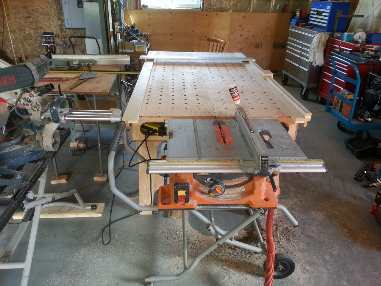 The Paulk Workbench built by Scott #workbench #DIY #woodworking ...