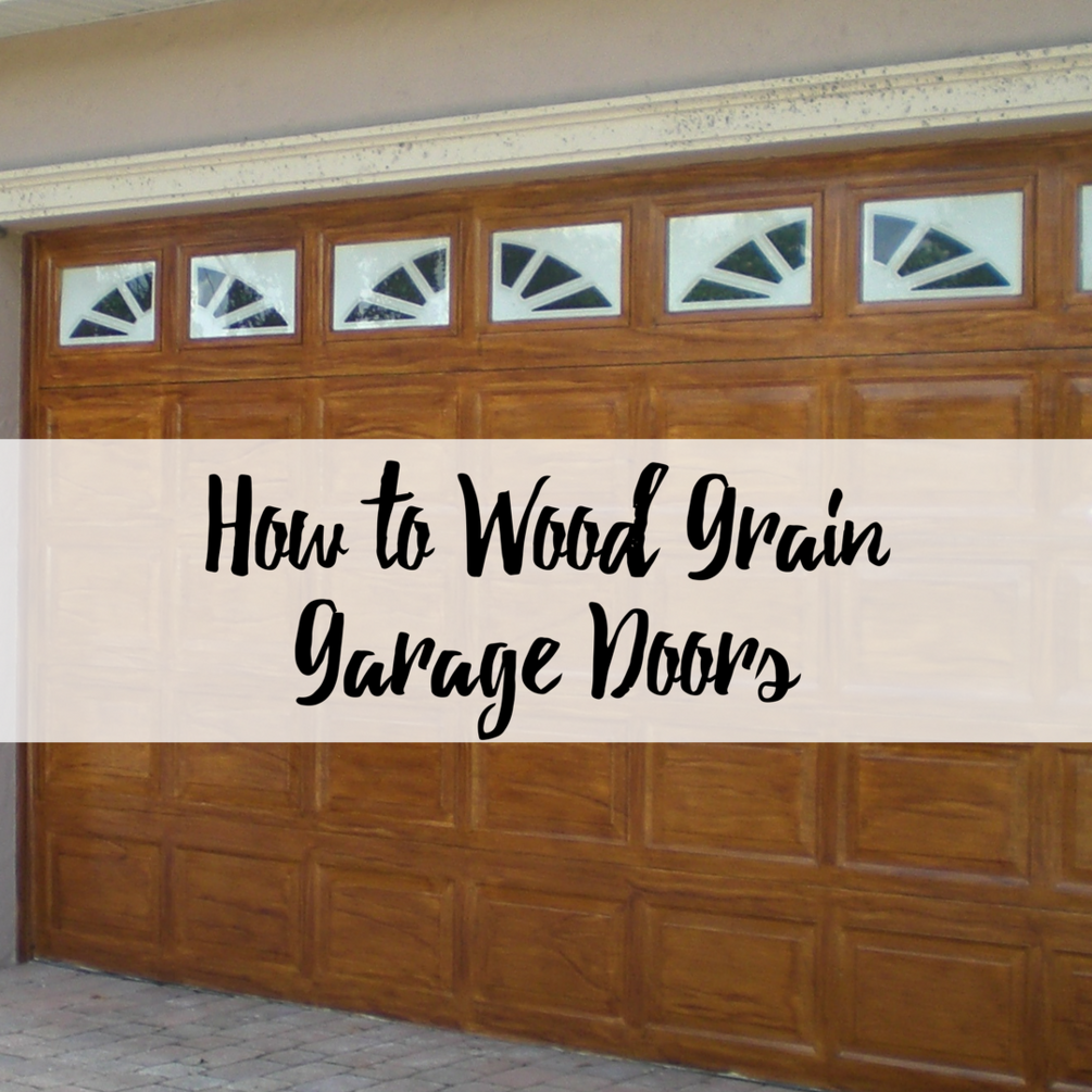 How to Wood Grain Garage Doors