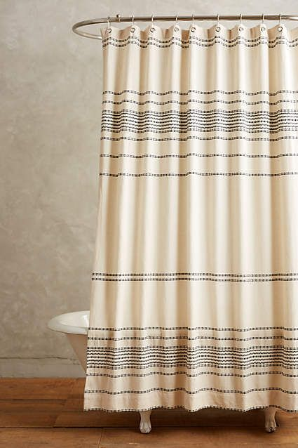 Shower Curtain Liner Primitive Bathrooms Striped Shower