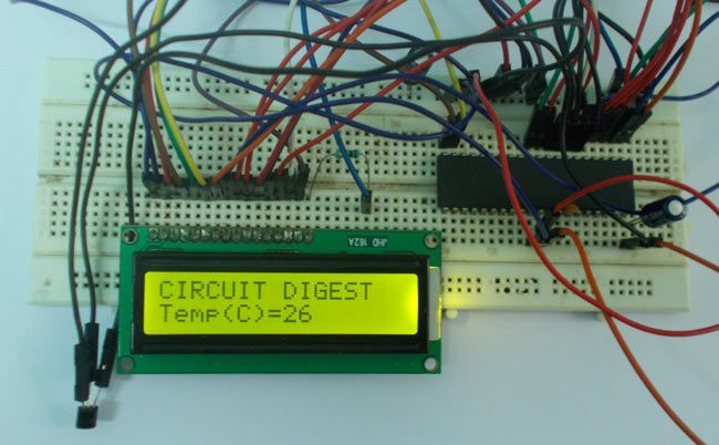 Digital Thermometer Circuit Diagram | Avr Microcontroller Based Digital Thermometer Using Lm35