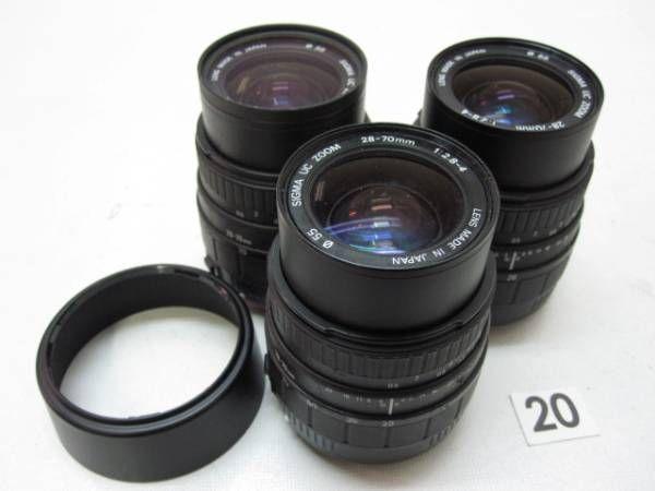 5L284GB SIGMA 28-70mm F2.8-4 レンズまとめて3本ジャンク_画像1
