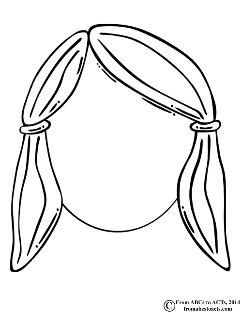 Blank Boy Face Coloring Page Sketch Coloring Page