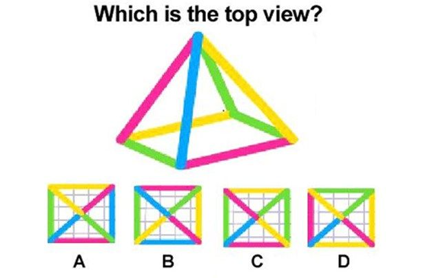 Which is the top View? Puzzles & Riddles Only for Geniuses | Love to ...