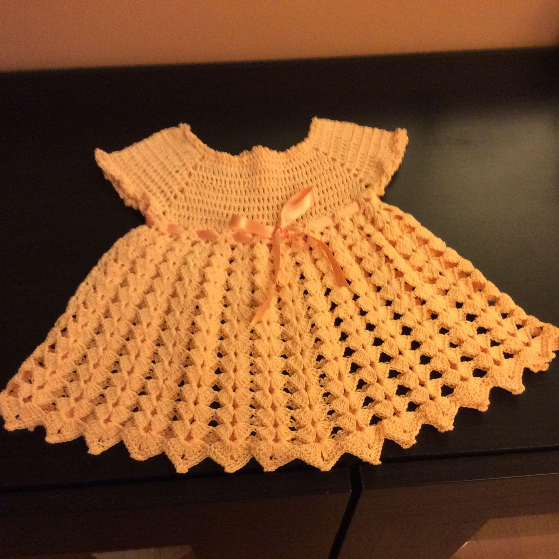 vestido tejido a crochet para ni a tejidos a crochet pinterest crochet baby crochet. Black Bedroom Furniture Sets. Home Design Ideas