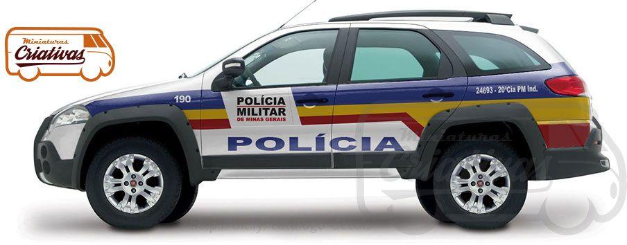 Fiat Palio Adventure Pm Mg Viatura Fiat Palio Policia Militar Mg