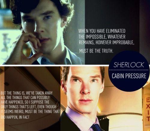 "Cabin Pressure writer John Finnemore ""avoids"" quoting sir Arthur Conan Doyle."