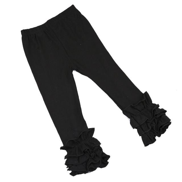 6b56cfbac496a Midnight Black Ruffle Leggings   Pants and Leggings   Girls ruffle ...