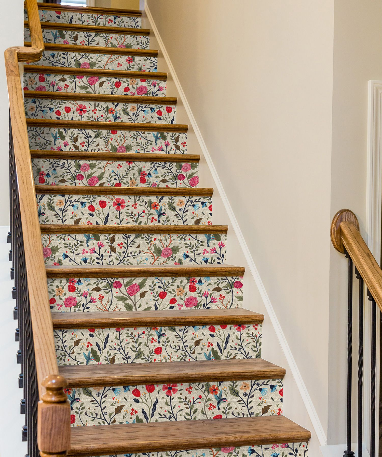 Best 7 Unexpected Ways To Use Removable Wallpaper Stair Decor 400 x 300