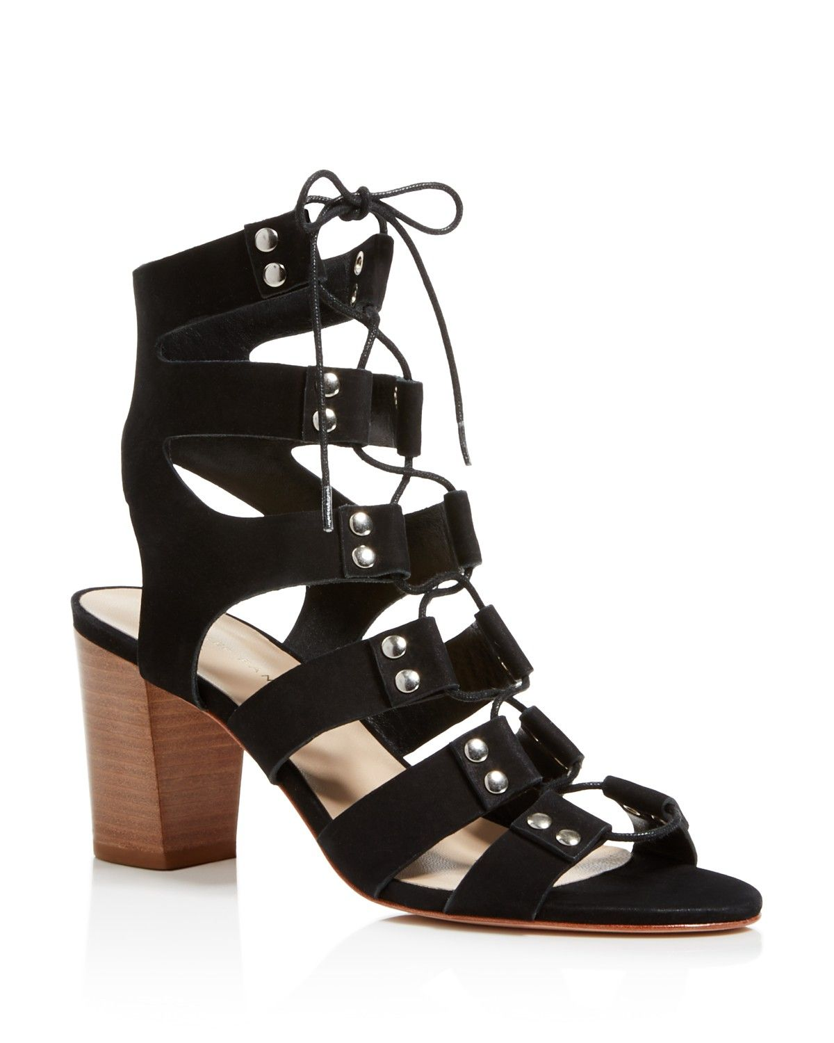 e060fb29347 Loeffler Randall Hana Lace Up Mid Heel Sandals