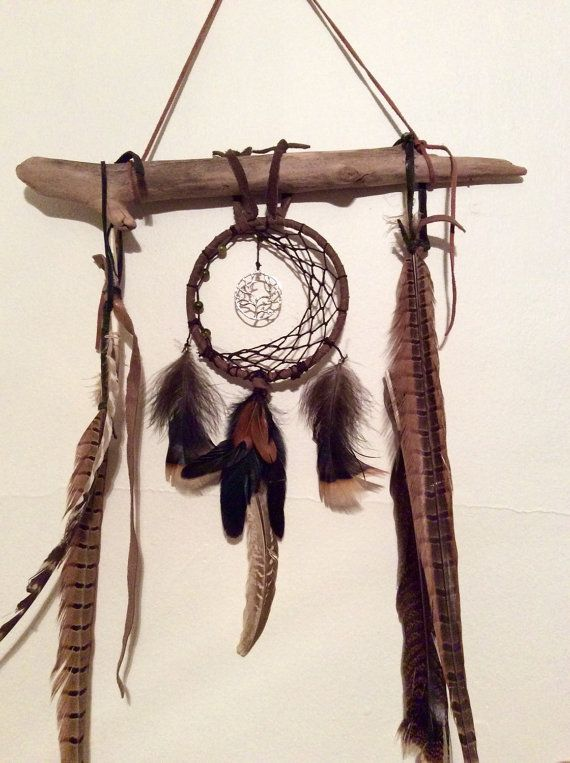 crescent moon dream catcher driftwood dream catcher tree of life driftwood wall hanging. Black Bedroom Furniture Sets. Home Design Ideas