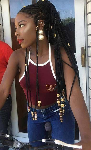 40 Trendy Braided Hairstyles For Long Hair To Look Amazingly Awesome; long wedding hairstyles ;Beautiful prom hairstyles 2018; long hairstyles for teens. #weddingBraided # fulani Braids prom # fulani Braids ponytail # fulani Braids ponytail