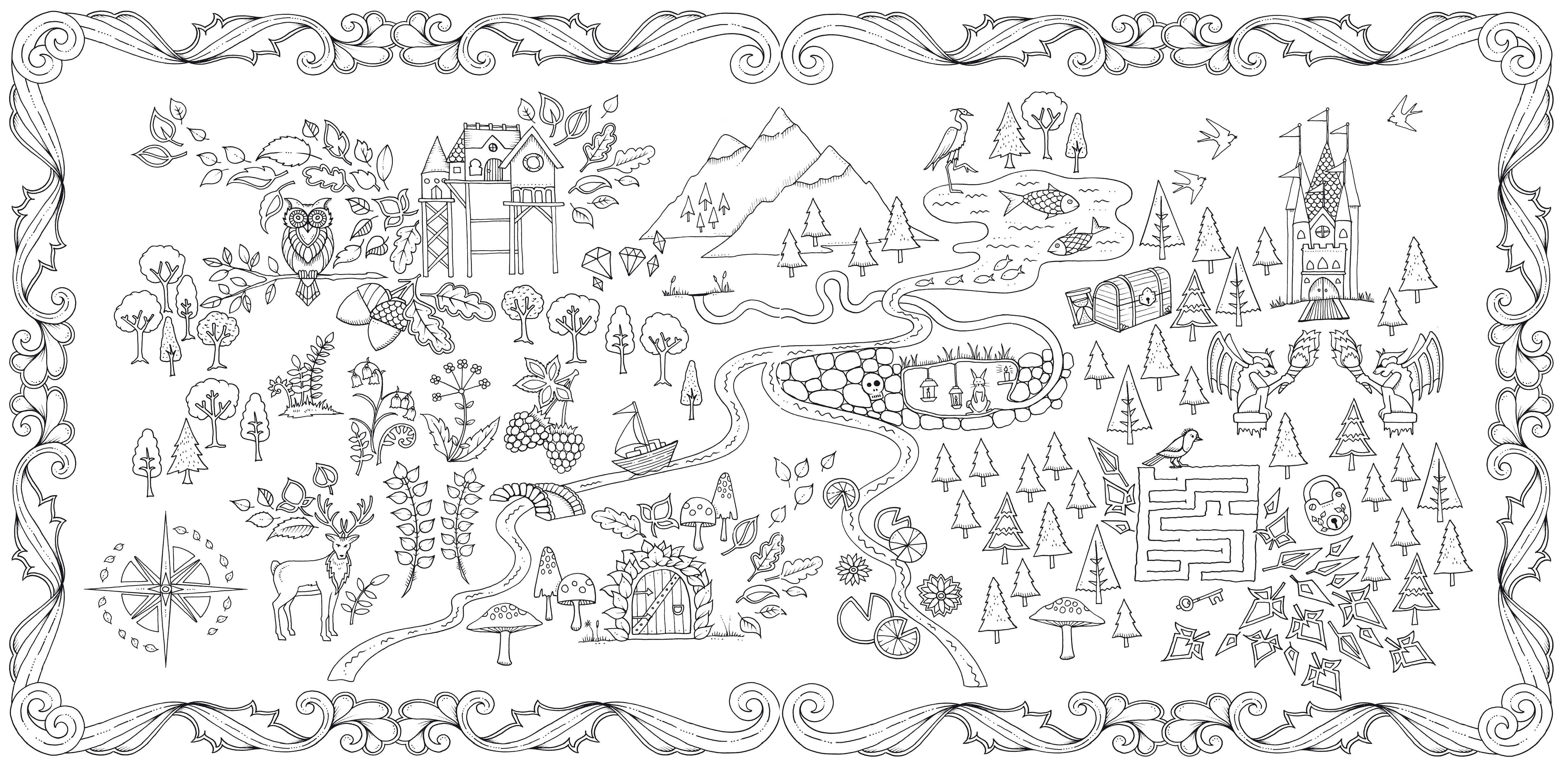 Discover Ideas About Secret Garden Coloring Book Enchanted Forest An Inky