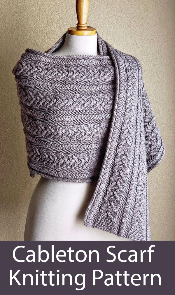 Photo of Cableton Scarf Knitting pattern by Natalya1905