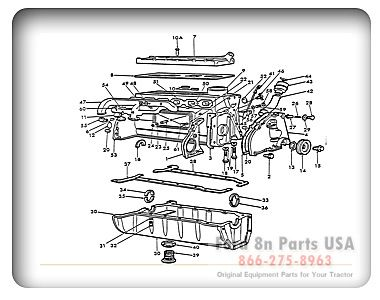 Ford 8N 06B01 Engine Assembly Outside
