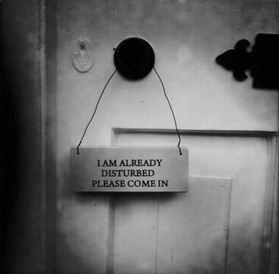 Fancy - I Am Already Disturbed Wooden Sign