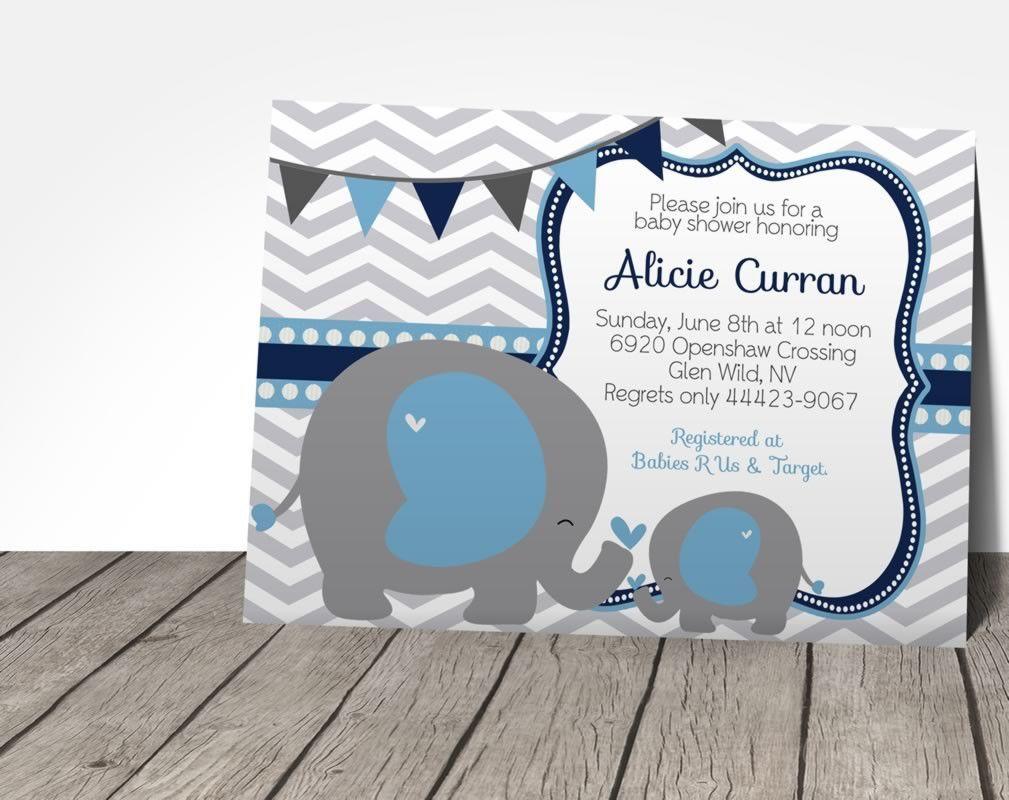 Elephant Baby Shower Invitation | mio | Pinterest | Baby boys und Babys