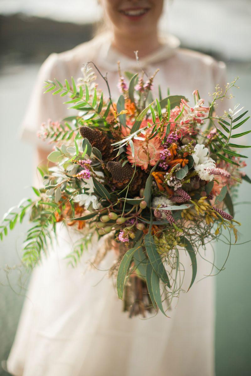 Lauren steves central coast wedding in 2018 ethical eco australian native flower bouquet by merrin grace lauren and steves eco wedding photography by a bear a deer a fox izmirmasajfo