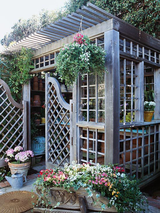 A Gallery of Garden Shed Ideas Gardens, Beams and Breeze - Potting Shed Designs