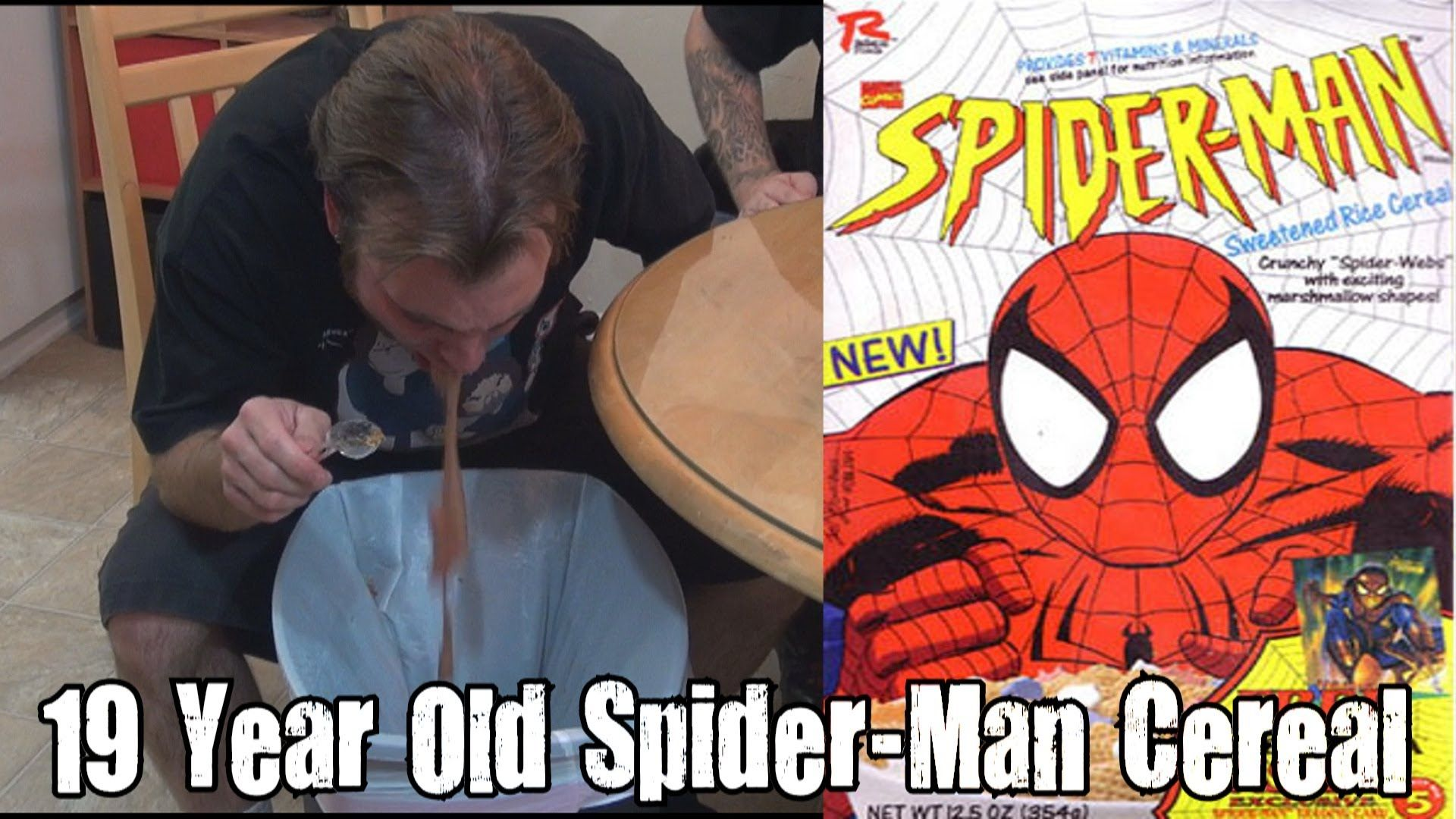 Wreckless Eating  19 Year Old Spider Man Cereal (Episode 47)