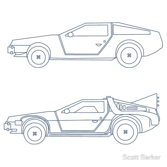 Delorean Blueprint Behind The Iconic Back To The Future