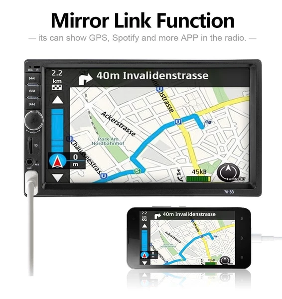 Mirror Car Audio 7 2 Din Car Dvd Player Autoradio Stereo