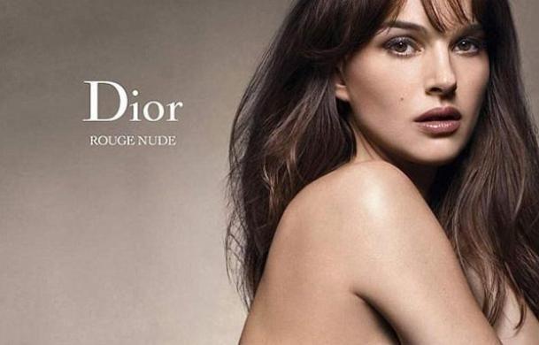 Natalie Portman nue et sensuelle pour la campagne Rouge Nude de Dior