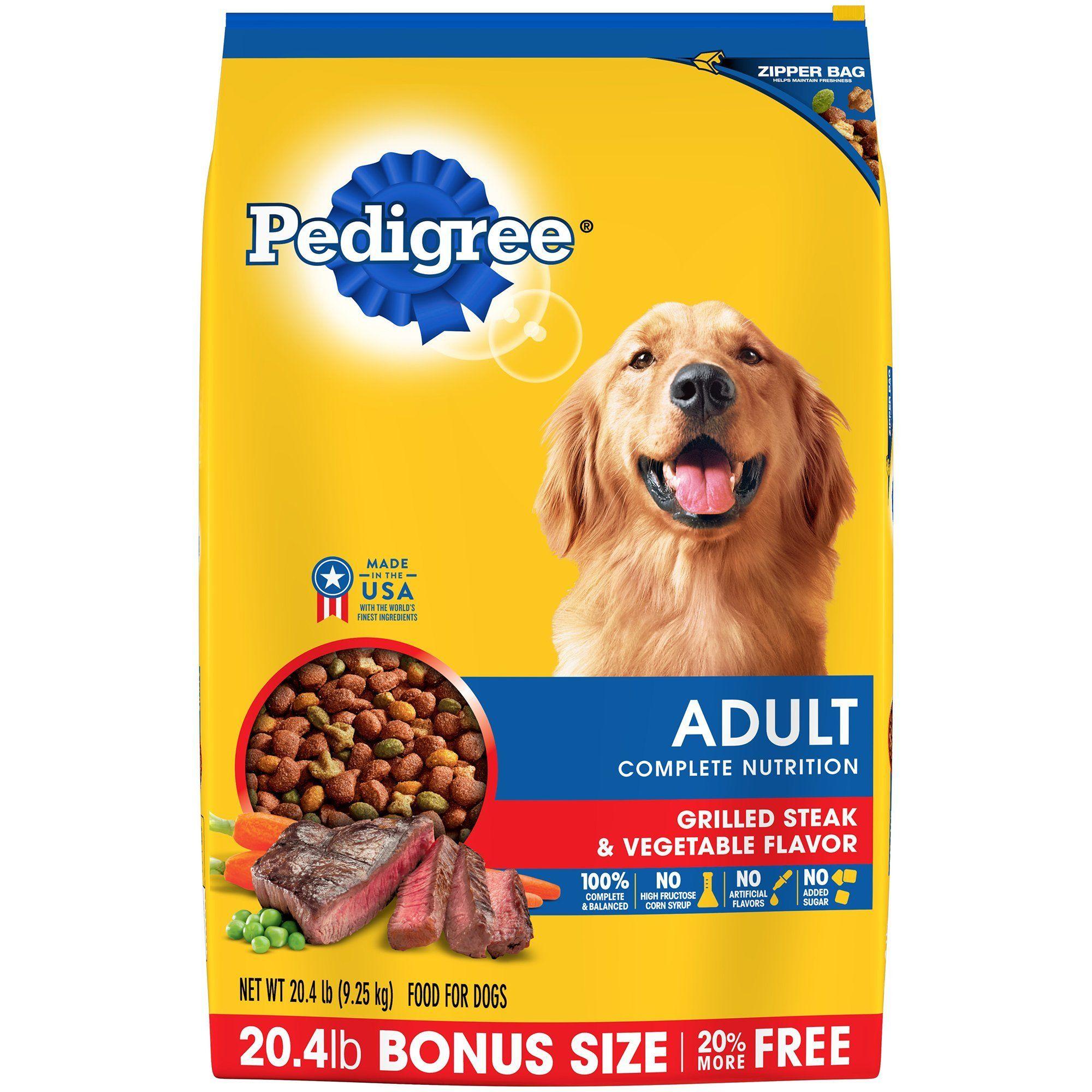 Pedigree Adult Dry Dog Food Grilled Steak Vegetable Flavor