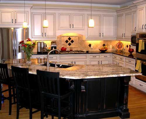 White kitchen, dark island - I dont like the white ...