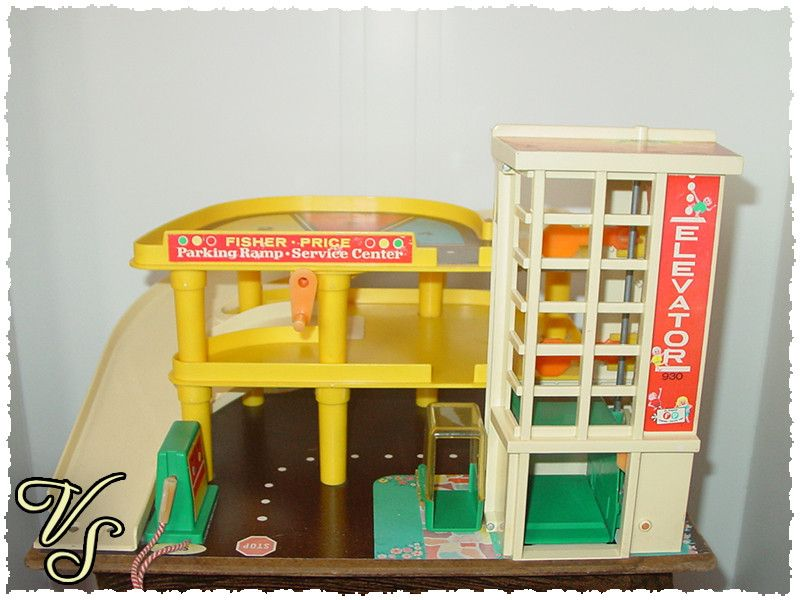 70er fisher price parkhaus parkgarage nr 930. Black Bedroom Furniture Sets. Home Design Ideas