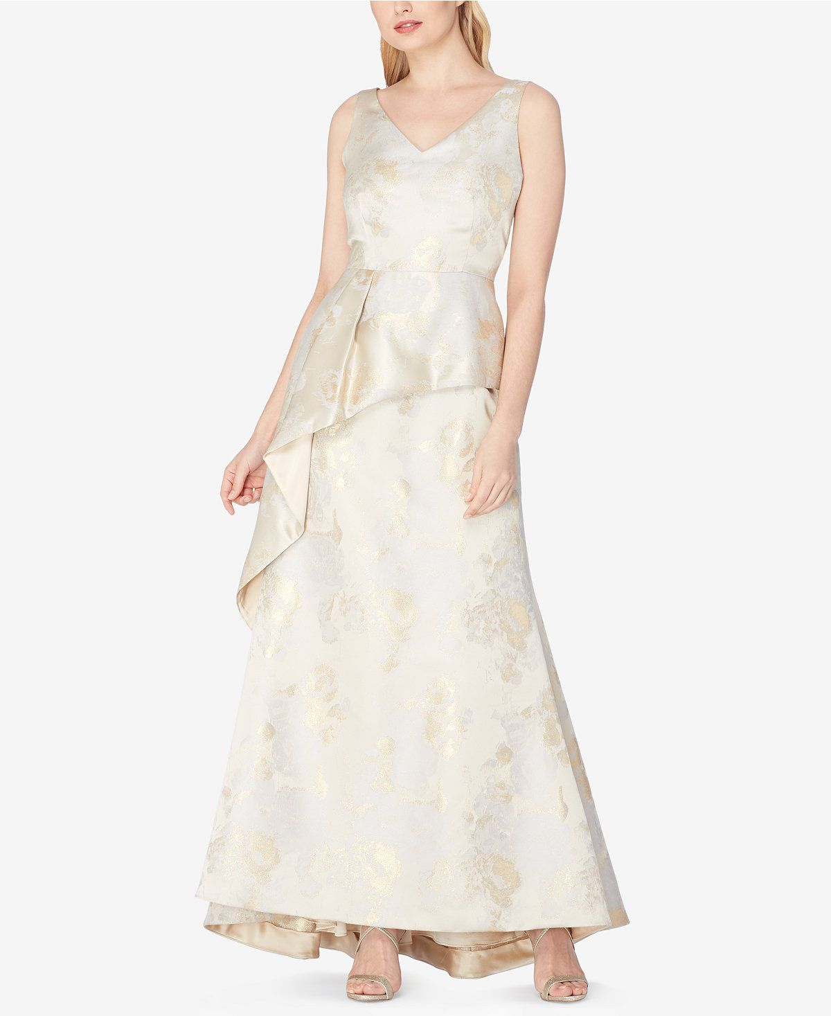 c4bab9074e10f Tahari ASL Jacquard Peplum Gown - Dresses - Women - Macy's | formal ...