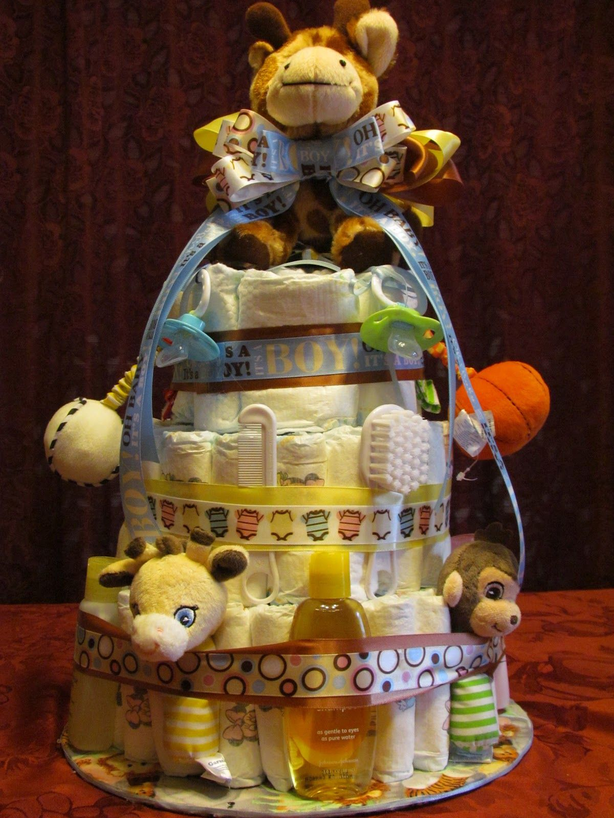 Baby Shower Diaper Cake Baby Lasso Gives Your Diaper Cake Two Legs