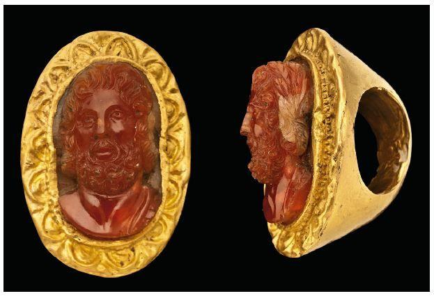 Gold and carnelian cameo ring, Graeco-Roman, circa 1st Century B.C.-1st Century A.D.