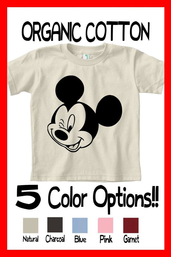 a0034f30 CUSTOM COLORS Awesome Funny Organic Toddler Mickey Mouse Clubhouse Winking Tee  Shirt Great birthday gift present party idea kids love Mickey