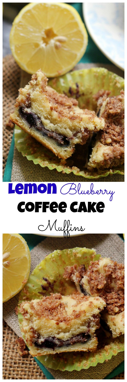 Lemon Blueberry Sour Cream Coffee Cake Muffins Recipe