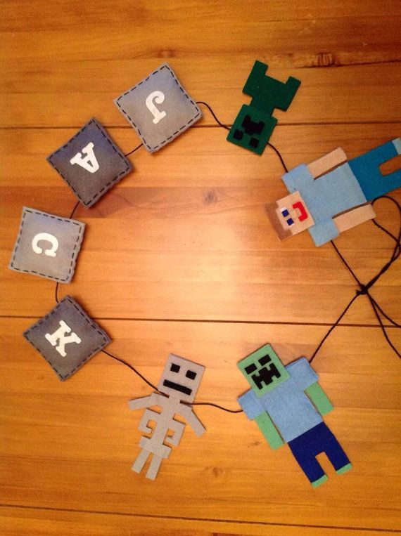 Inspired by Minecraft Personalised by CreativeCraftsByBex on Etsy