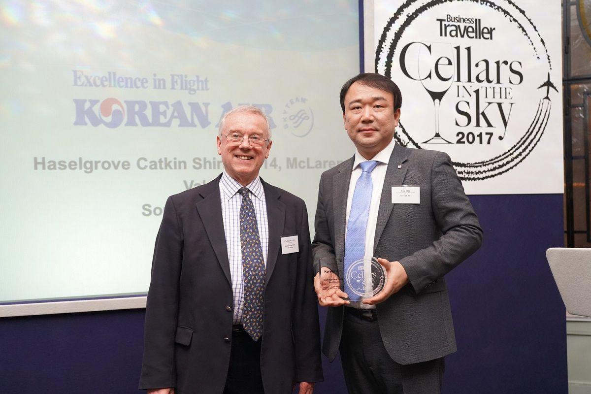 Korean Air Wins Big at 'Cellars in the Sky 2017' Airline