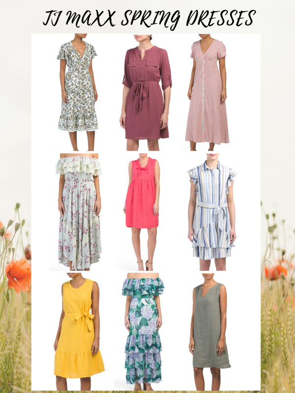 9c1c2b2f5fcc TJ Maxx Spring Dresses. Love the linen material for the spring time. Also  all the floral prints! | Hey Its Camille Grey