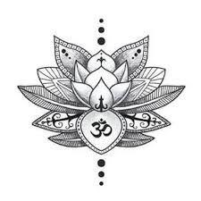 Resultado De Imagen De Flor De Loto Dibujo Mandala Lotus Flower Drawing Mandala Tattoo Flower Tattoo
