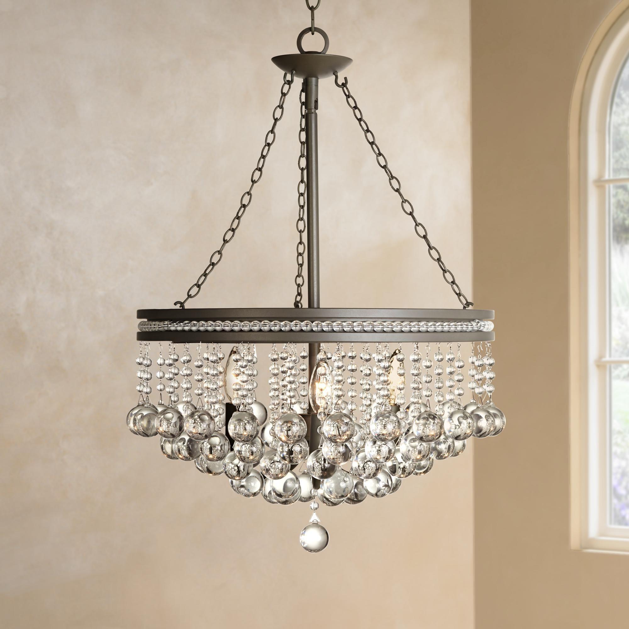Regina Olive Bronze 19 Wide Crystal Chandelier U2231 Lamps