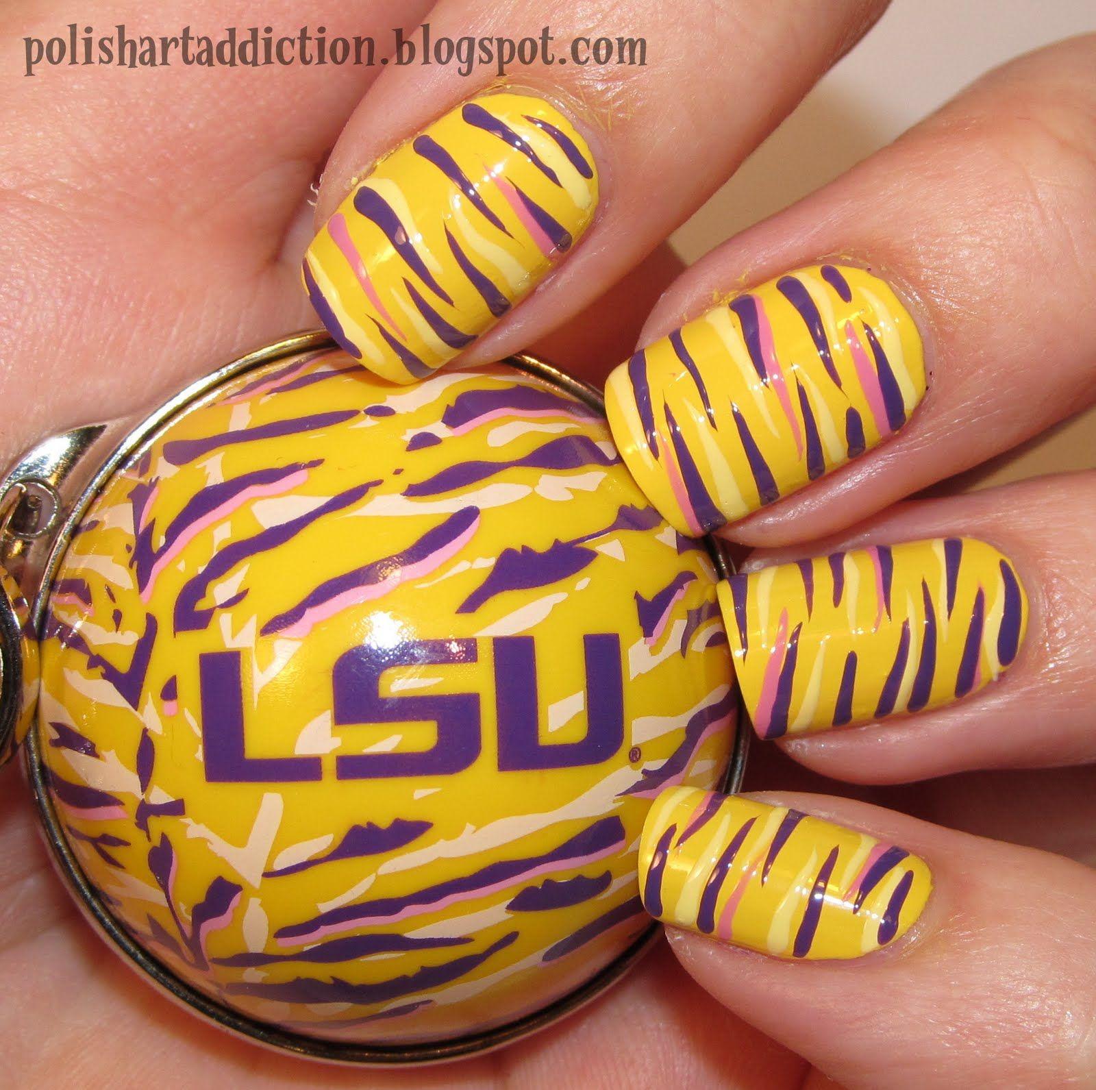LSU-NAIL ART | Makeup & Nails :) | Pinterest | Makeup
