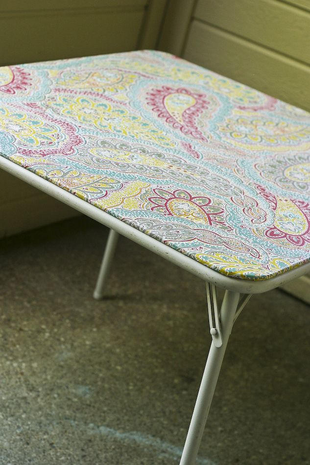 How To Recover A Card Table And Chairs With Vinyl Fabric