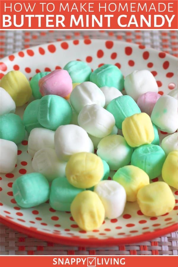 Quick, Easy Butter Mints Recipe   Snappy Living