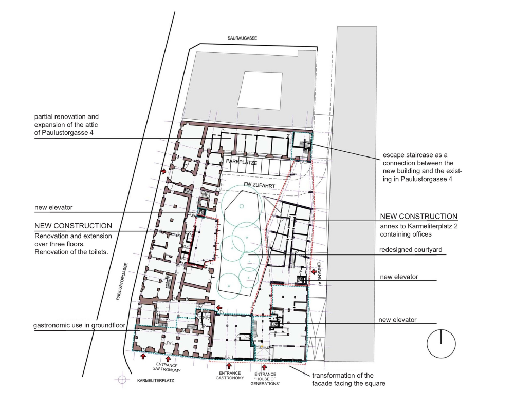 Gallery Of Karmeliterhof Love Architecture And Urbanism 13 Architecture New Construction Site Plans