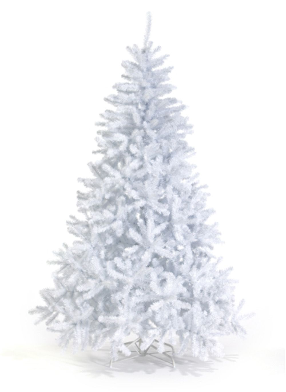 The 7 Foot Queen Spruce WHITE Artificial Christmas Tree Unlit